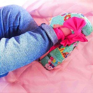 Kit faixinha + sapatinho de boneca