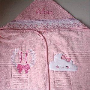Toalha fralda com capuz personalizada