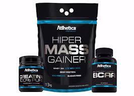 Kit Hiper Mass Gainer 3kg + BCAA 120 cáps + Crea 100g Atlhetica