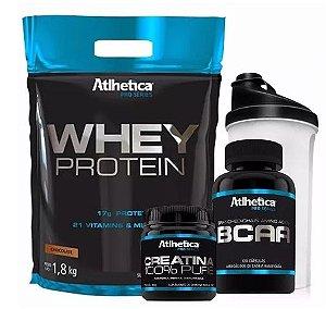 Kit Whey Protein 1,8kg Atlhetica + Coqueteleira