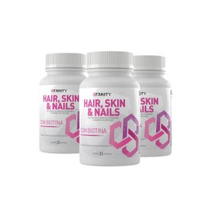 Kit 3x Hair Skin & Nails - 30 cápsulas cada