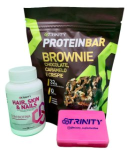 Kit protein bar brownie e Hair Skin Nails