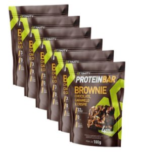 Kit 6 protein bar brownie