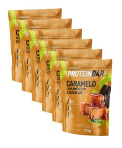 Kit 6 protein bar caramelo