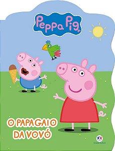 Grampeado Recortado - Peppa Pig - O papagaio da vovó