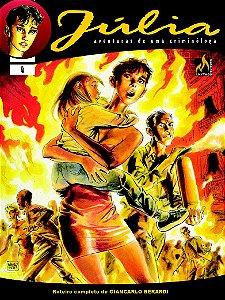 Júlia -  Vol. 04 Dilúvio de fogo    Português Capa Brochura  lançado em  15 de novembro  de  2020