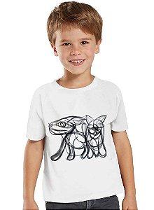 Camiseta Infantil Cachorro e Gato