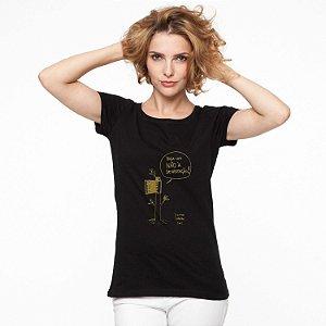 Camiseta Feminina Diga não a devastação - PRETA