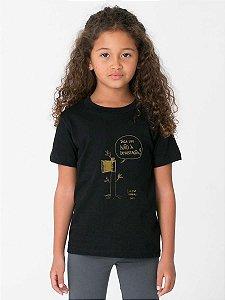 Camiseta Infantil - DIGA NÃO A DEVASTAÇÃO - PRETA