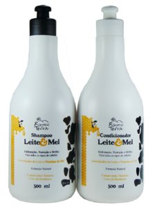 Kit Promocional - Shampoo e Condicionador Leite e Mel 500ml
