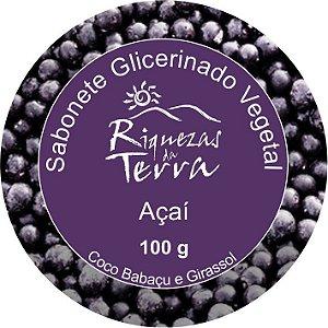 Sabonete Glicerinado Vegetal Açaí 100g