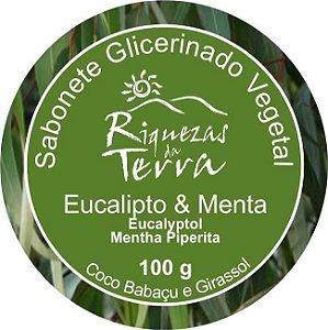 Sabonete Glicerinado Vegetal Eucalipto e Menta - OUTLET