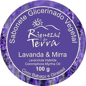 Sabonete Glicerinado Vegetal Lavanda e Mirra - OUTLET