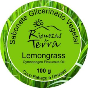Sabonete Glicerinado Vegetal Lemongrass - OUTLET