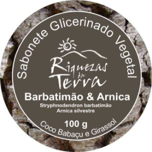 Sabonete Vegetal  Glicerinado Barbatimão e Arnica - OUTLET