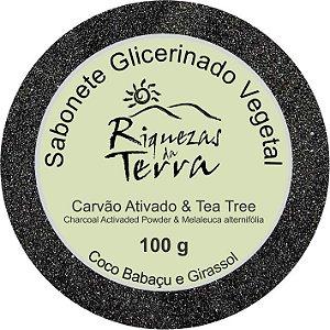 Sabonete Glicerinado Carvão Ativado e Tea Tree - OUTLET