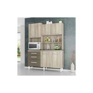 Kit Cozinha Mila 5 Portas 3 Gavetas- Aramóveis