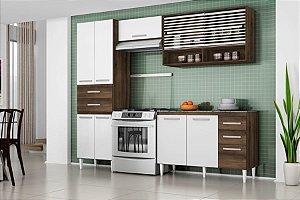 Cozinha Compacta Joyce 2120 9 Portas, 5 Gavetas  – Aramóveis Com Balcão