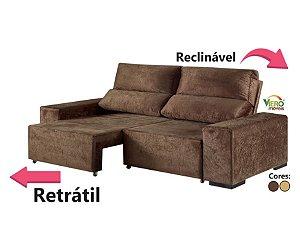 Sofá Retrátil Viero Confort 2 Lugares em Tecido Suede Animale