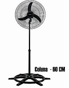 Ventilador De Coluna 60cm 1.200 Rpm 147w Preto Ventisol 110v