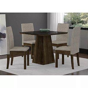 Mesas de jantar lojas suprilar for Mesa sonetto cristal 4 cad cristal rustic bege