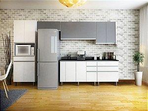 Kit Cozinha Batrol Top Class 10 Portas e 8 Gavetas + Espaço para Microondas