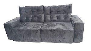Sofá Somopar Briston 3 lugares tecido marrom