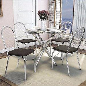 Mesa Kappesberg vidro redondo 4 cadeiras Noruega