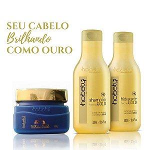 Kit Ouro - Shampoo e Hidratante Tecno Gold + Máscara Banho de Ouro