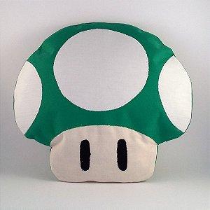 """Almofada Super Mario Bros """"Cogumelo Verde"""""""