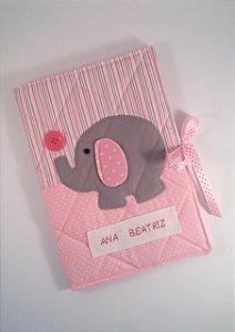 """Capa para caderneta de vacinação """"Elefantinha"""""""