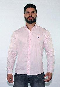 Camisa lisa Justink Manga Longa  Rosa