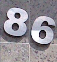 Número de Casa em Inox (Algarismo)