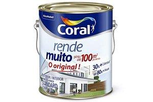 TINTA ACRÍLICA RENDE MUITO INTERNA E EXTERNA CORAL 3,6 LITROS - GELO
