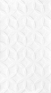 REVESTIMENTO BRANCO BRILHANTE 3D 32,5X56,5 HD-35360 INCEFRA