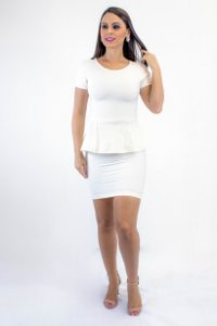 Saia Bandagem cintura alta Off White