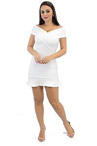 Vestido Boneca Bandagem Off White