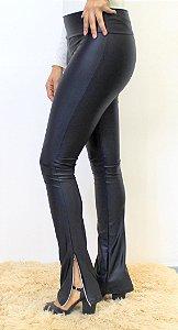 Kit com 5 calças cirrê preta com ziper barra