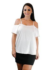 Blusa alça com ombro de fora off white