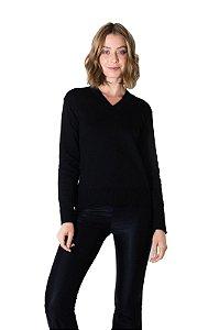 Sueter tricot cinza preto