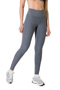 Calça Legging cinza com cintura alta