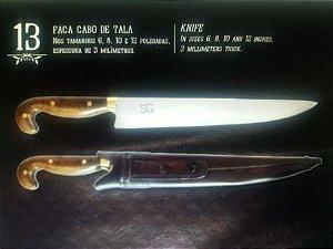 Facas SG Cabo de  Tala 06 polegadas