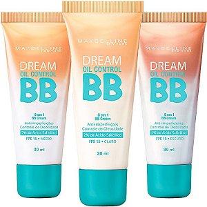 BB Cream Maybelline Dream Oil Control 8 em 1 FPS 15 - 1 Cor Disponível