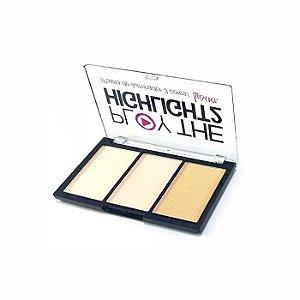 Paleta de Iluminador 3 Cores Play The Highlight2 Luisance L3008 - Cor 2
