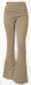 Calça Jeans Caqui Flare Hot Pants - Equus Q05662075