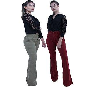 Calça Jeans Colors Flare  - Lemier  FC000558 - Promoção
