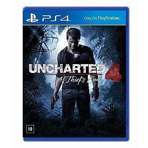Uncharted 4: A Thief's End - PS4 Mídia Física