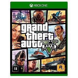 Jogo Grand Theft Auto V (GTA 5) - Xbox One Mídia Física