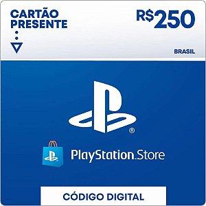 Cartão PSN R$250 Reais PSN Brasil - Playstation Network Brasil