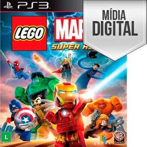 Jogo LEGO Marvel Super Heroes - PS3 Mídia Digital